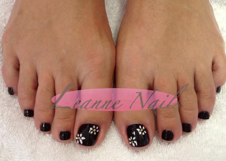 Black and white toe nail designs graham reid leanne nails toenail designs prinsesfo Images